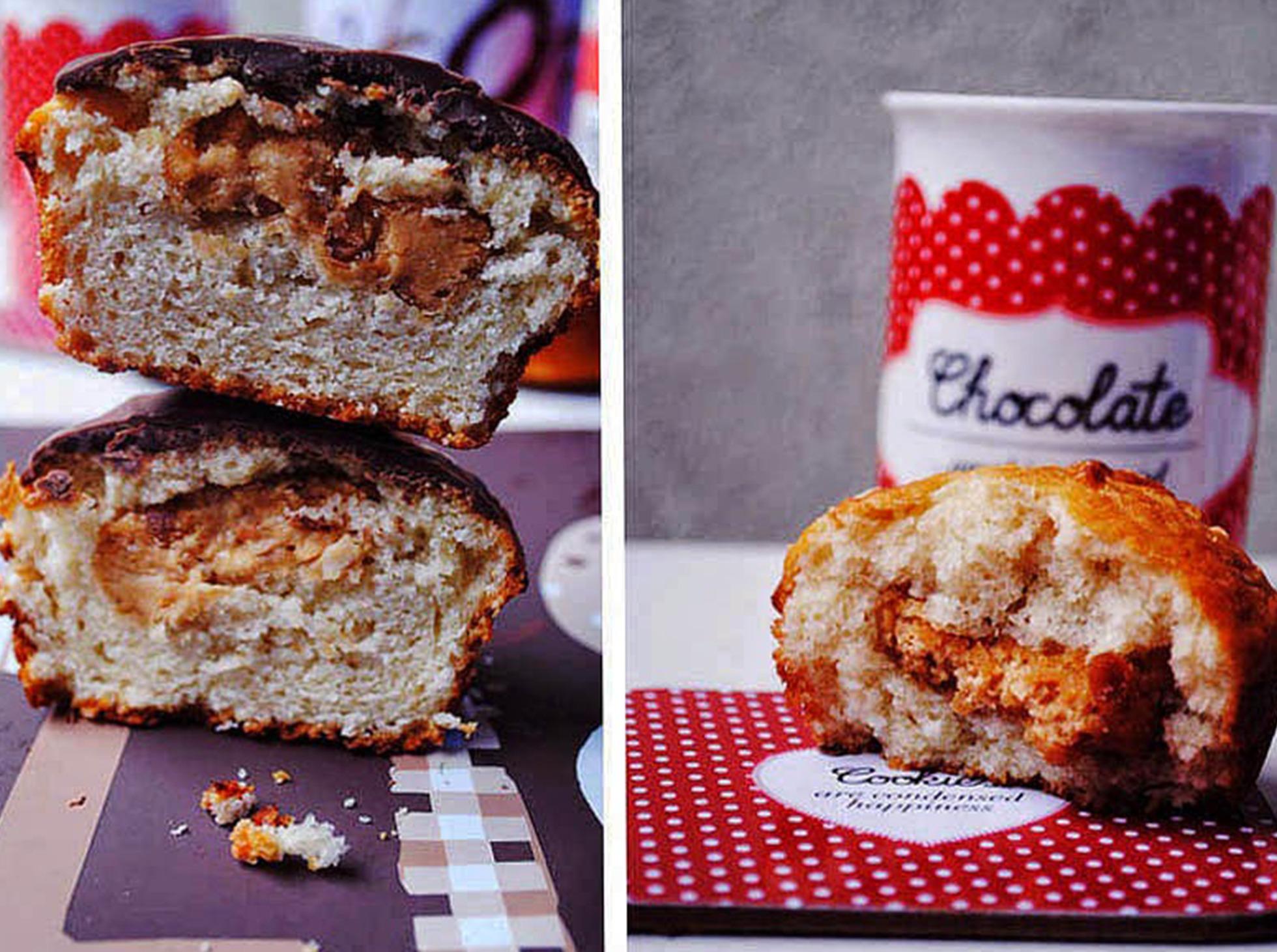 Muffinki z masłem orzechowym w środku