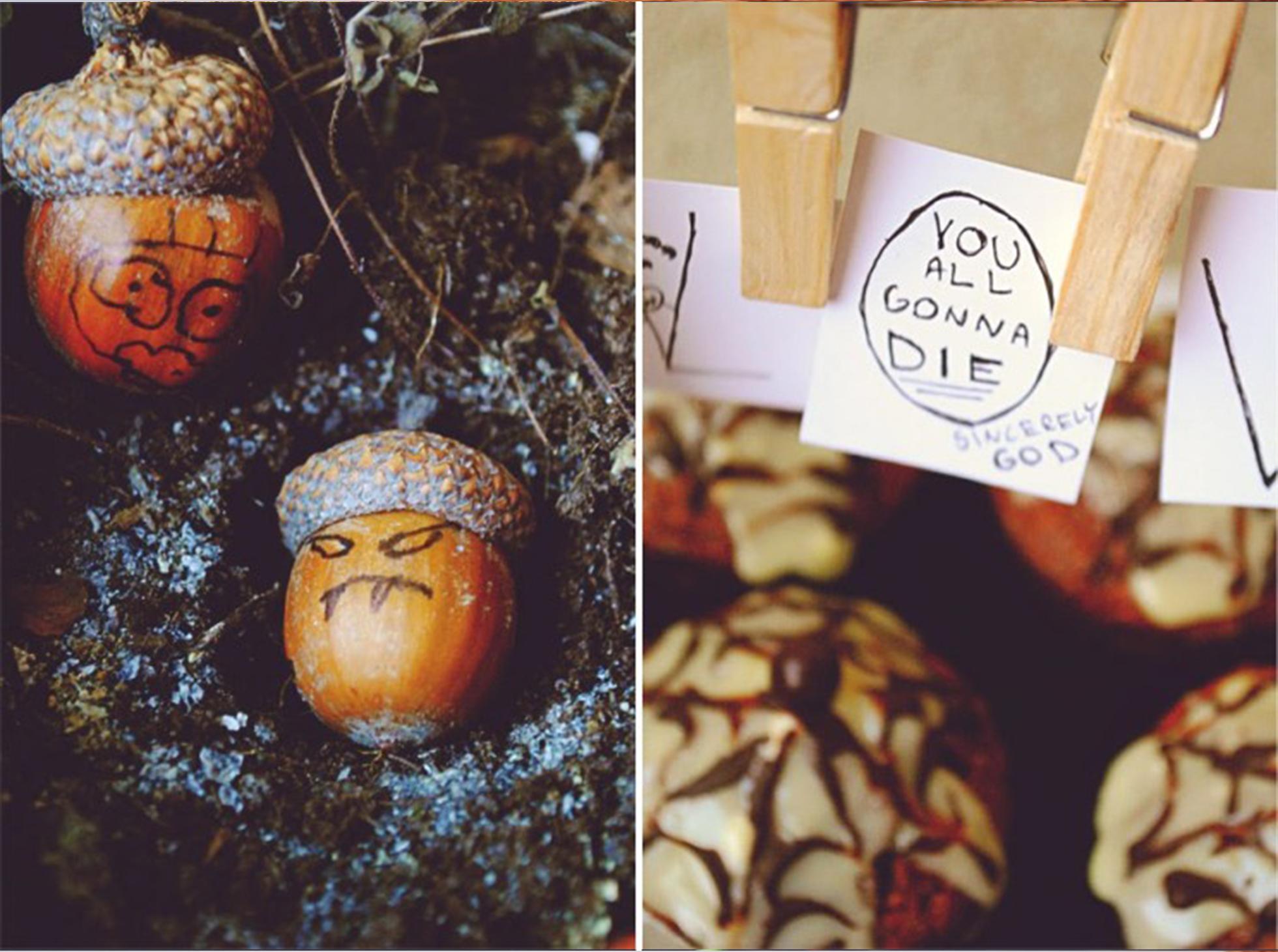 Czekoladowe muffinki z pajeczyna