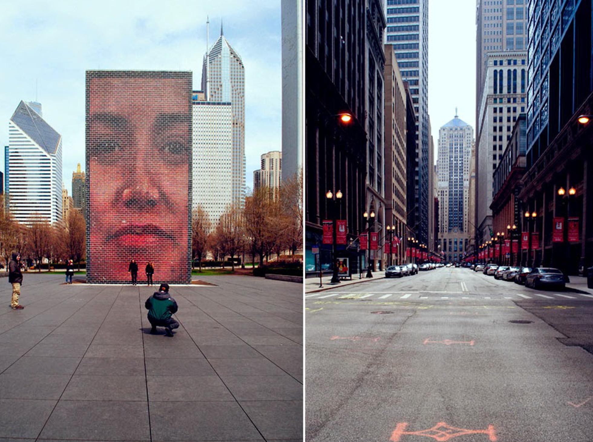Chicago ulice, drapacze chmur
