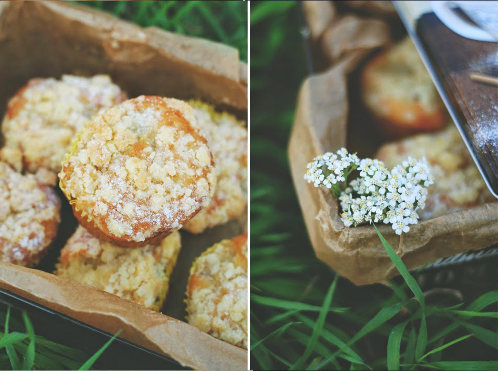 Gruszkowe muffinki z kruszonką
