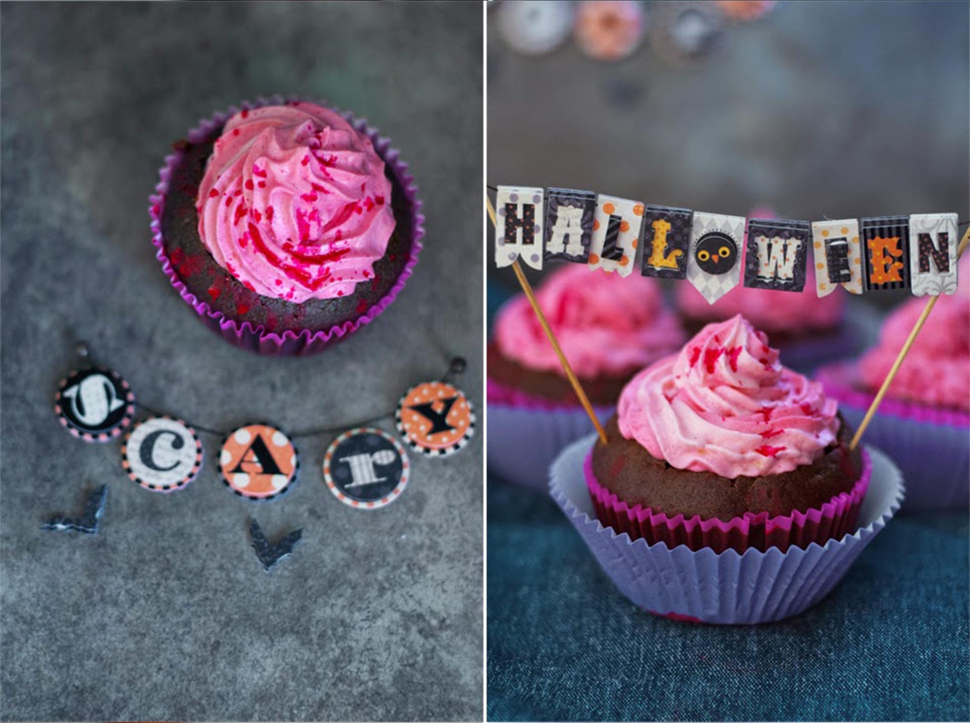 Słodkie wypieki ns Halloweend babeczki, muffinki