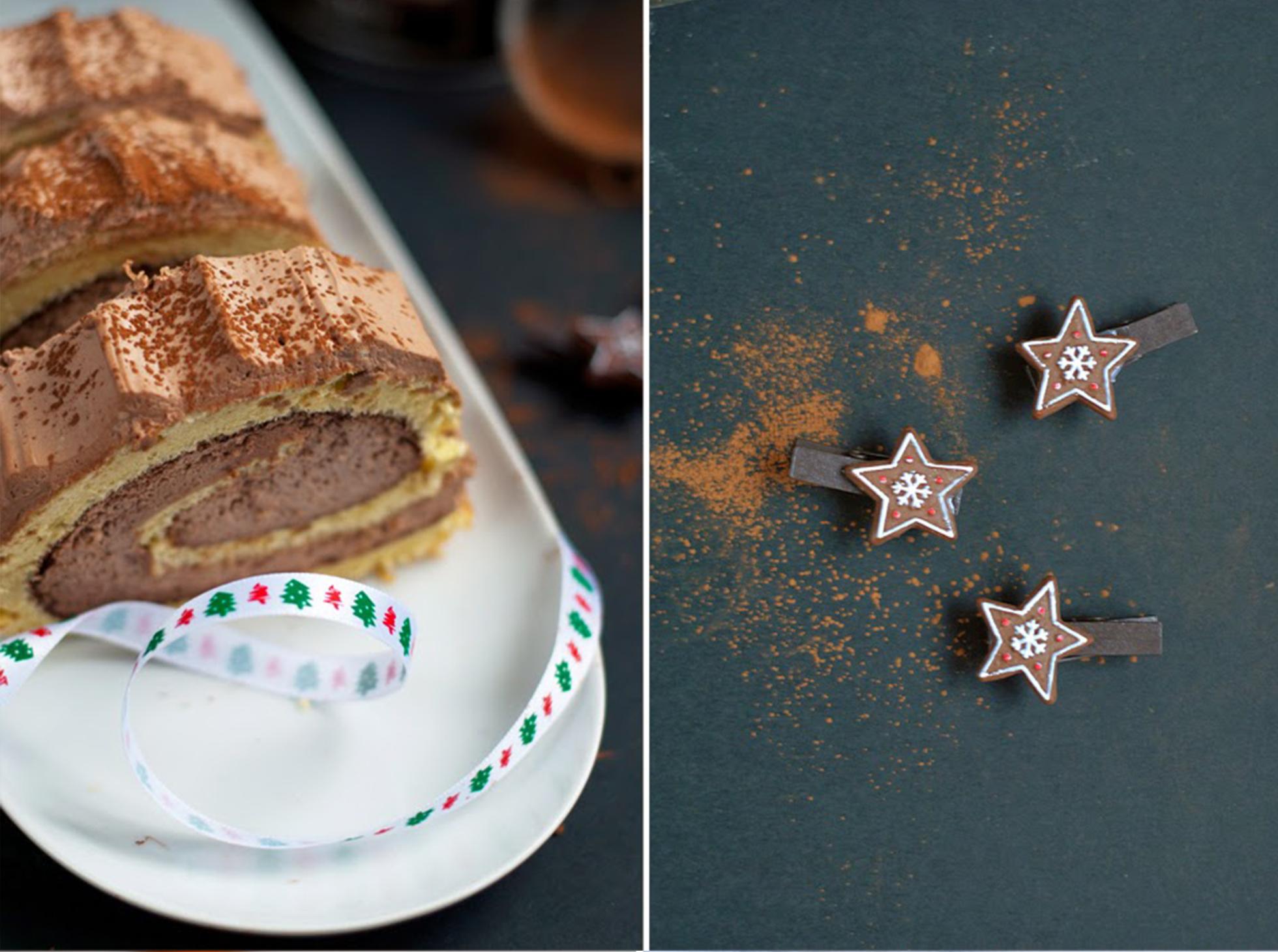 Rolada z czekoladowym kremem na święta
