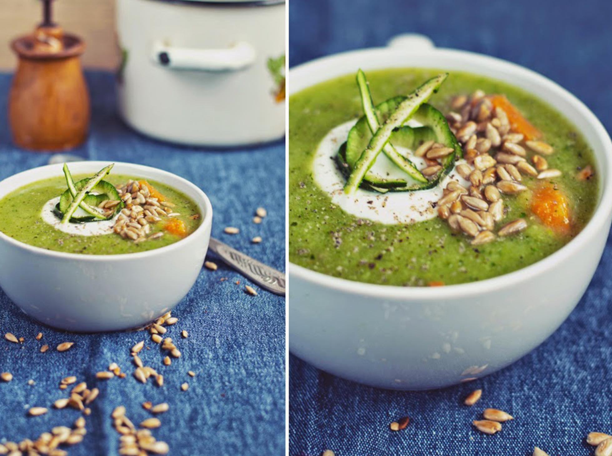 Przepis na krem z cukinii i brokułów