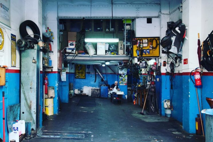Blue workshop tools photo