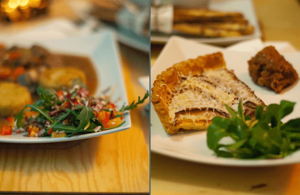 Tarta z kozim serem Las restauracja