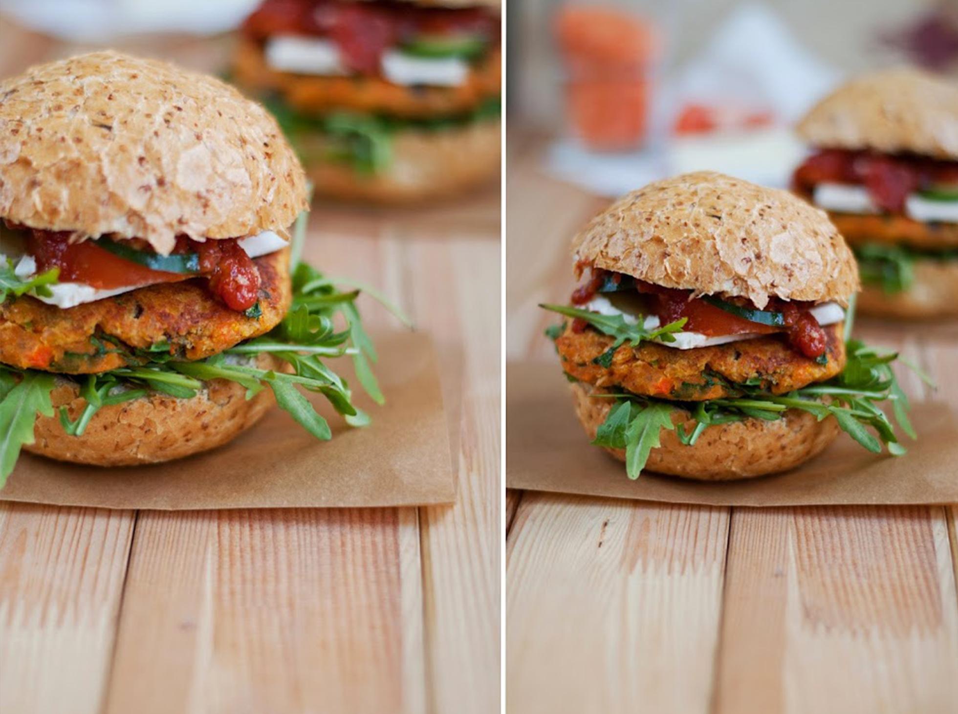 Wege burgery z marchewki i soczewicy