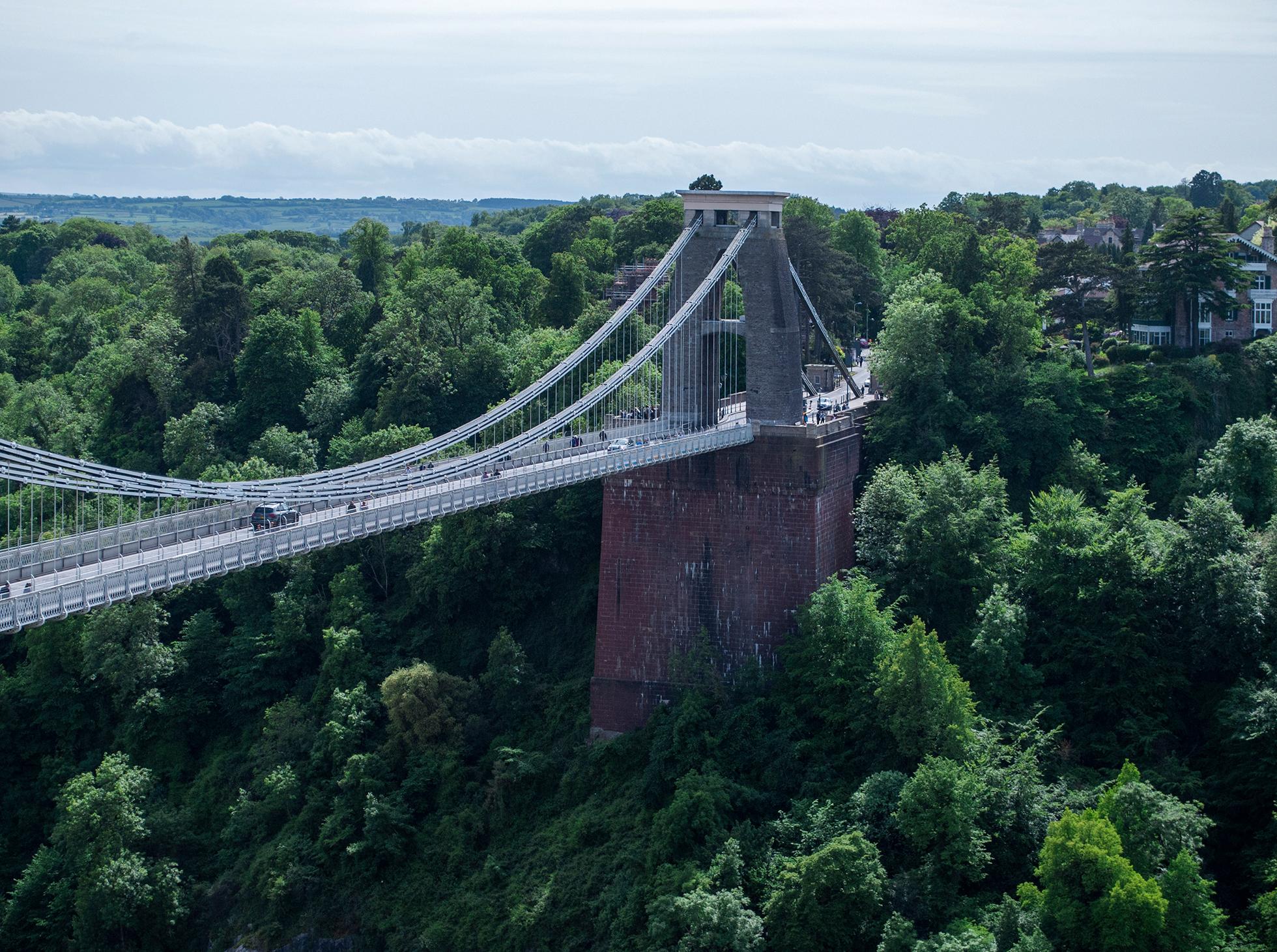 Most w Bristol zdjęcia z widokiem na miasto