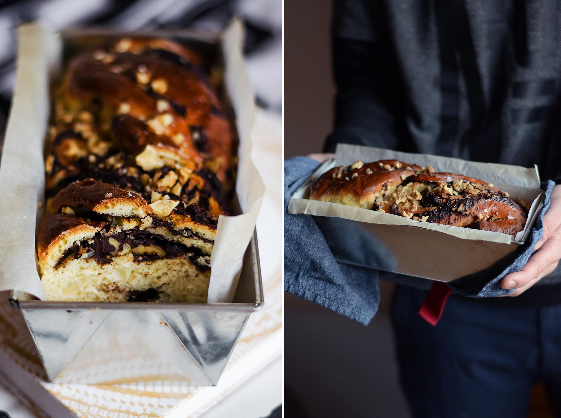 Ciasto drożdżowe kranz czekoladowy