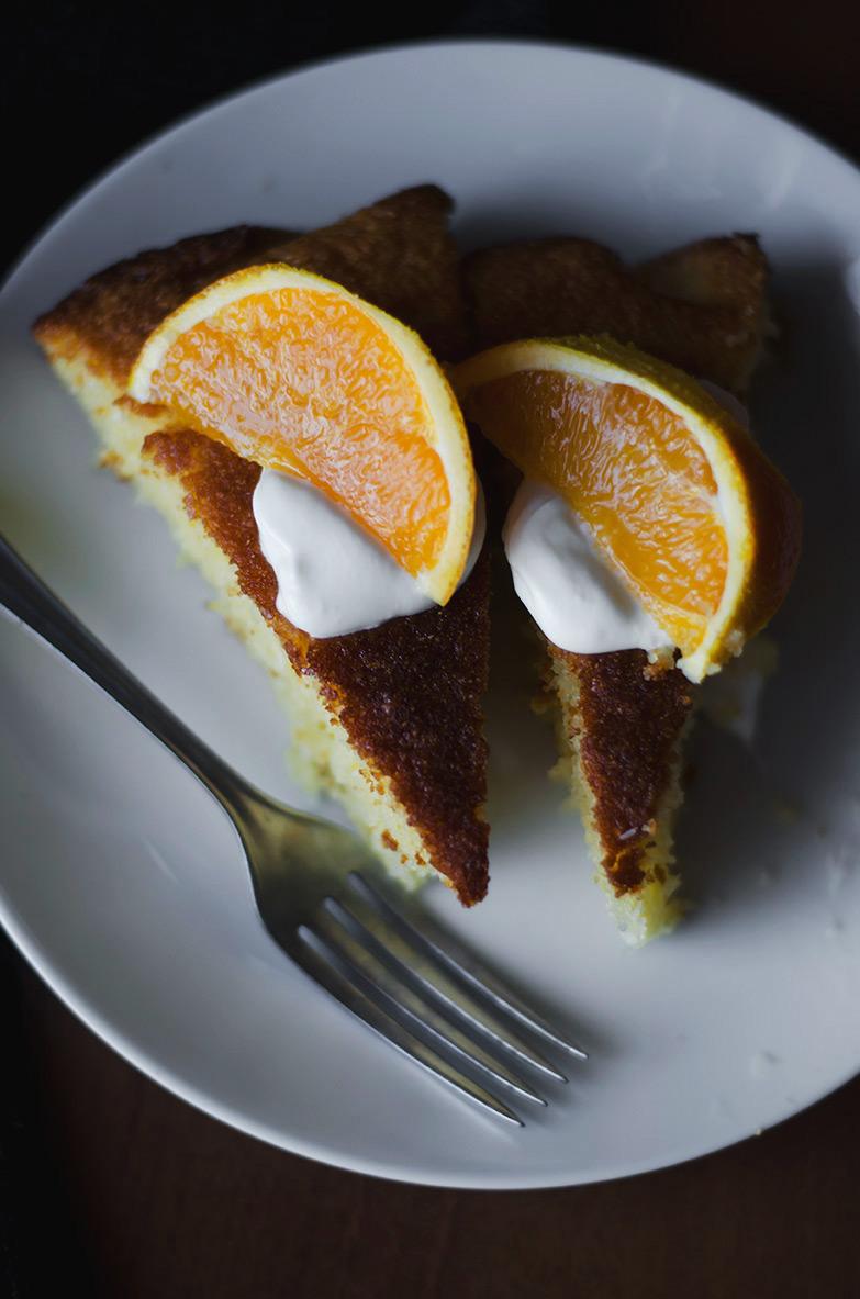 Ciasto z wiórkami kokosowymi i pomaranczami