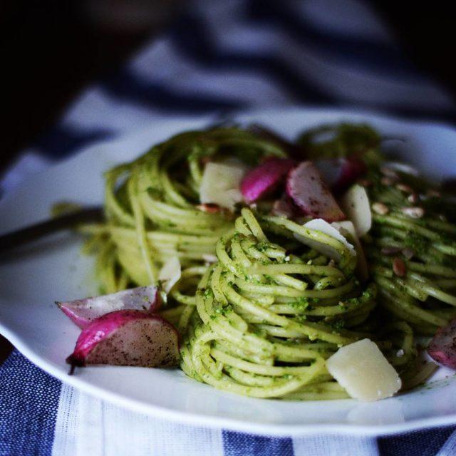 Pesto makaron pesto rzodkiewka jemy zdrowo pycha pinkenvelopeblog blogkulinarny yummyhellip