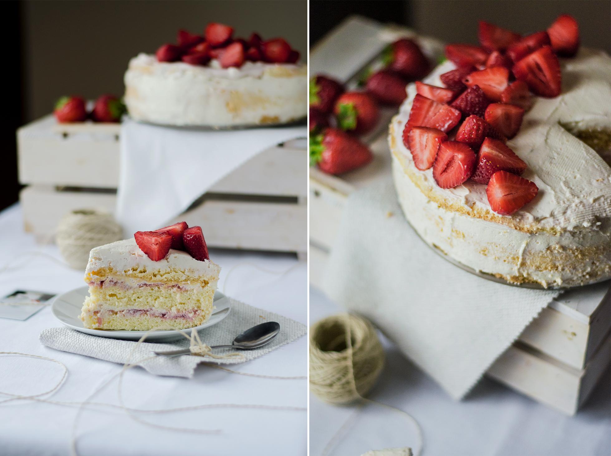 jak zrobić tort z truskawkami prosty przepis